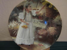 Spring Blossoms collector plate Donald Zolan Girl with flower basket Children