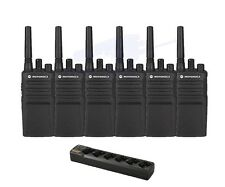 6 Motorola Rmu2080 Two-Way Radios Walkie Talkies + 6 Bank Charger