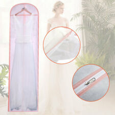180cm 6FT Long Breathable Wedding Prom Dress Gown Garment Dustproof Bag Cover UK