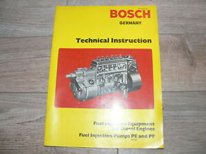 1970s Bosch Technical Instruction; Fuel Injection Equipment for Diesel Engines