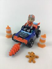 "Rusty Rivets Car Toy Drill Cones Building with 3"" Figure Accessories Spin Master"