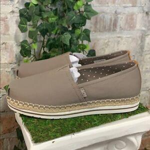 NEW Women's Skechers BOBS Breeze Memory Foam Shoes Taupe Slip-On - Pick Size