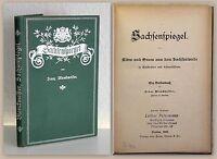 Blanckmeister Sachsenspiegel 1902 Geschichten Landeskunde Sachsen Saxonica xz