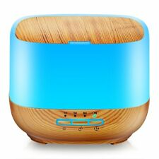 TomCare 500Ml Square Essential Oil Diffuser Humidifiers Ultrasonic Aromatherapy