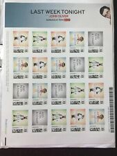 Last Week Tonight John Oliver Stamps limited HBO 55-Cent x20 In Hand! CHIIJOHN