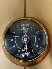 Downeaster Mfg Co Brass Tide Clock