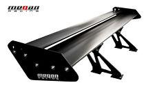 Universal Megan Racing Aluminum GT Trunk Spoiler Wing Black plates Black desk