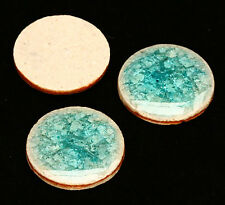2x Porzellan Cabochons mit Crackle-Optik 20mm wasserblau tm405