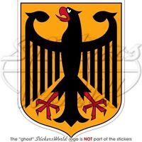 """GERMANY German Coat of Arms Deutschland 4""""(100mm) Vinyl Bumper Sticker - Decal"""