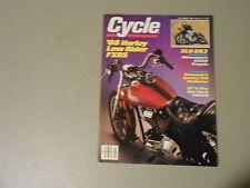 OCTOBER 1987 CYCLE MAGAZINE,HARLEY FXRS LOWRIDER,XLH 883,KAWASAKI 250,CBR600,AMA