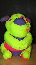 Wal-mart Puppy Dog Plush Stuffed Animal yellow hot pink purple Nylon vintage