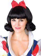 Adult Ladies Snow Princess Wig Accessory for Snow White Fairytale Fancy Dress Ne