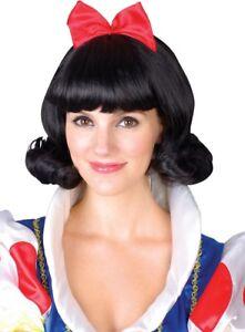 Adult Ladies Snow Princess Wig Accessory for snow White Fairytale Fancy Dress Ne