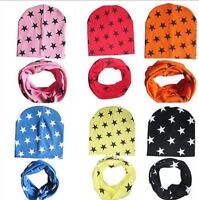 Hat Beanie Scarf 2pcs Set Girls Boys Baby Infant Winter Warm Crochet Knit