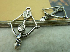 4 x tibetan silver bow and arrow charm pendant fr03