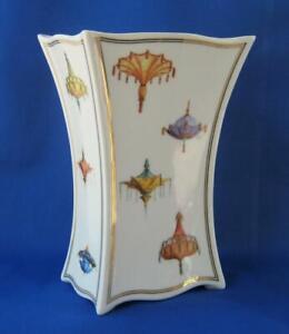 Stunningly Elegant Art Deco Porcelain Vase Artis Orbis Wynn Goebel Germany