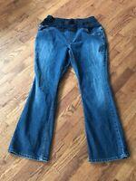 Liz Lange Maternity Jeans Boot Cut Size 12