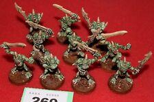 Juegos taller Warhammer Chaos Plaguebearers Of Nurgle x10 Sigmar Pintado Ejército C