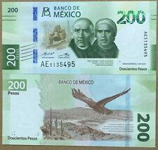 Mexico 200 Pesos, New Design PREFIX AE, (2018) 2019, Hidalgo-Morelos, Eagle. UNC