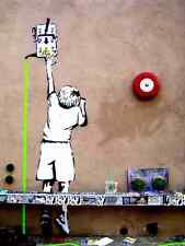 Banksy Reach Power Line Switch A3 Sign Aluminium Metal Large