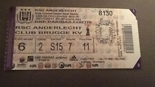 TICKET :  RSC ANDERLECHT - KV CLUB BRUGGE 05-11-2017 CHAMPIONNAT BELGIQUE