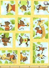 Susybee's Oolie, the Monkey patchwork 100% cotton fabric by the yard