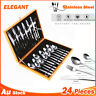 24pcs Stainless Steel Cutlery Set Fork Knife Spoon Family Tea Cafe Dinner AU