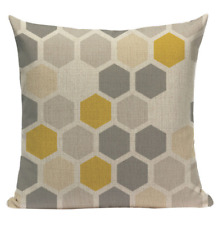 Yellow Pattern YG9 Cushion Pillow Cover European Design Stylish Modern Geometric