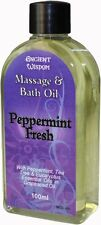 Aromatherapy Peppermint Fresh Massage & Bath Oil 100ml with Eucalyptus, Tea Tree
