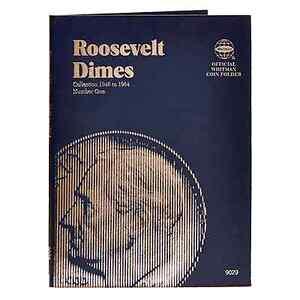 Whitman Blue Coin Folder 9029 Roosevelt Dime #1 1946-1964  Album / Book  10 cent