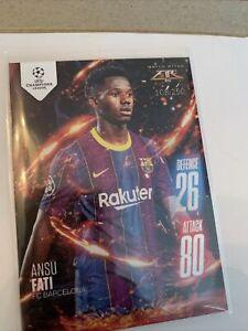 ✅Match Attax Extra 2020/21 Ansu Fati Rookie Fire Card Rare 108/250 Free Shipping