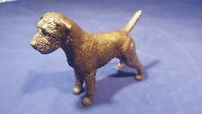 Border Terrier standing Cold Cast Bronze Dannyquest Sculpture