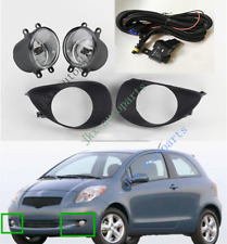 Clear Fog Light Lamp & Switch & Wiring Kit For Toyota Yaris Hatchback 2006-2008
