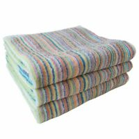 ECO Stripe High quality Bath Towel 3 sheets set Made in Imabari Japan kawaii