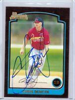 St Louis Cardinals CHRIS DUNCAN signed autographed auto 2003 First Bowman card