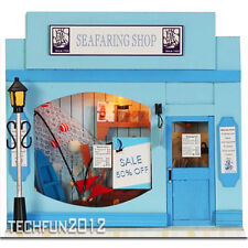 Handmade Wooden DIY European Miniature Shop House - Seafaring Shop