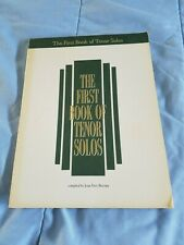 Vintage The First Book of Tenor Solos- Boytim 1991