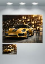 Porsche 911 Golf Supercar Large Poster Art Print