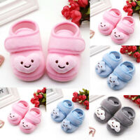 Infant Newborn Baby Girls Plush Stars Cloud Winter Boots Soft Sole Warm Shoes