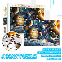 Jigsaw Puzzle 1000 Piece Kids Adult Educational Toy Game Gift - Planets in Space