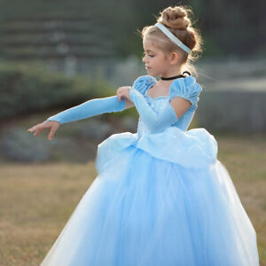 Sweet Nicole Cinderella Crystal Princess Party Costume Dress Up Size 4-10