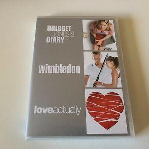 Love Actually / Wimbledon / Bridget Jones's Diary DVD Region 4 (VG Condition)