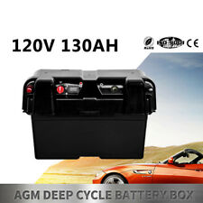 Battery Box AGM Deep Cycle 130AH Dual System 12V USB Ports Large Marine AU STOCK