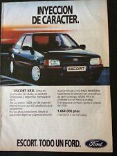 Publicidad Automóvil Ford Escort  XR3