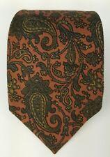 Robert Talbott Best Of Class Mens Tie Necktie Orange Paisley Silk Tie Made USA