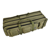 Fishing Rod Reel Bag Luggage Case 3 Layer Traveling Backpack Holdall 80cm