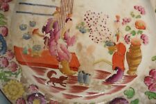 Antique Hand Painted Oriental Chinoiserie Design Plate early 19th Century No 338