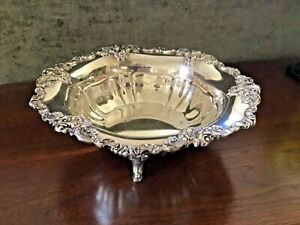 Excellent Wallace Baroque Footed Silverplate Bowl No Scratches or Dings