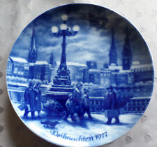 """Berlin Design Weihnachtsteller 1977 """"Weihnachtsabend in Hamburg"""""""