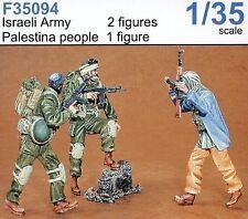 Czech Master 1/35 2 x esercito israeliano e palestinese 1 x non dipinti # F35094